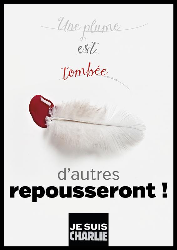 Une plume est tombée... #JeSuisCharlie #CharlieHebdo
