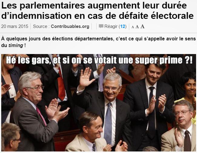 Les parlementaires augmentent leur durée d'indemnisation en cas de défaite électorale (ref. 1)