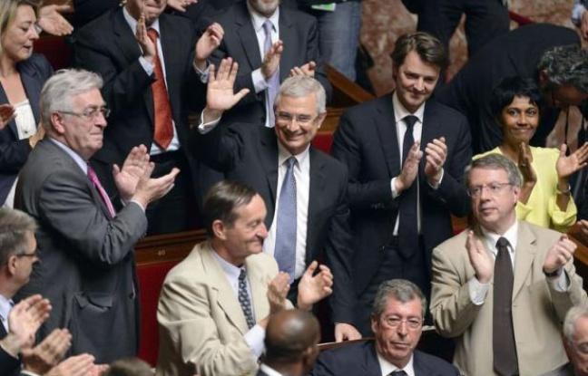 Le 26 juin 2012, Claude Bartolone (PS) vient d'être élu à la présidence de l'Assemblée nationale ©Eric Feferberg