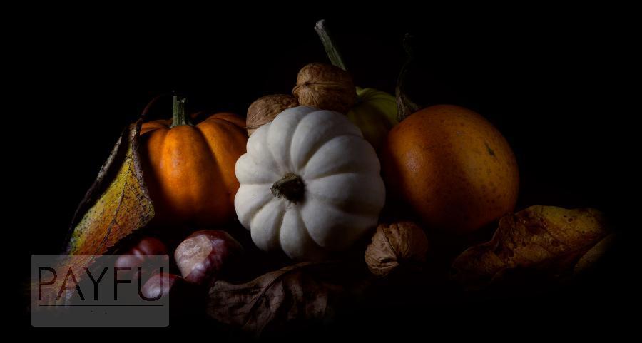 automne marron citrouille noix courge light painting