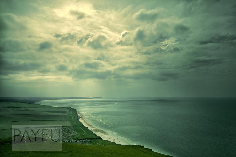 paysage, cap gris nez, cap blanc nez, mer, calais